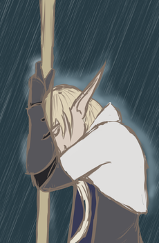 Hengest in the Rain by Rella-Adopts