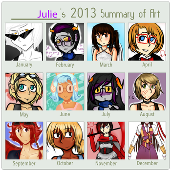 2013 Art Summary by puppyloverpearl