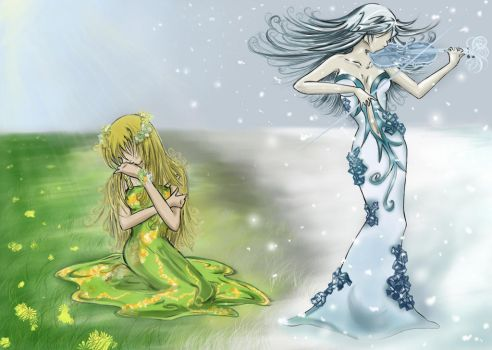 winter vs summer by Eien-no-hime