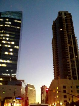 sunset in the city by Naiyana