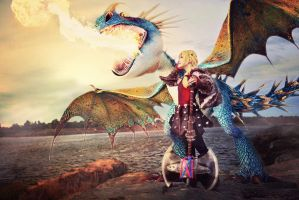 Astrid - The Dragon Rider by meipikachu