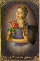 Girl with the flowers by aelirenn-kw