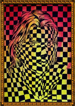 Op-art self-portrait by Vrolok87