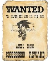 wanted poster on angel sonic by bluehedghog