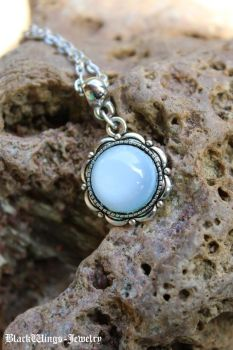 Moonstone pendant by BlackWings-jewelry
