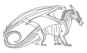 Wings of fire dragon coloring pages ~ Free dragon poses by BronzeHalo on DeviantArt