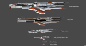 Turian Ships Concepts V2 by nach77