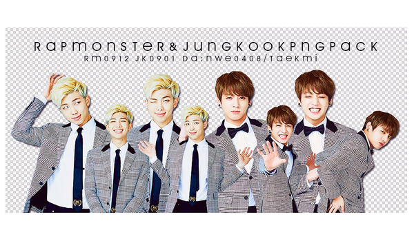10 / BTS RAP MONSTER JUNGKOOK Birthday PNG PACK by NWE0408