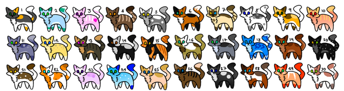 30 Cat Adopts!! [CLOSED] by TuftsDoubleU