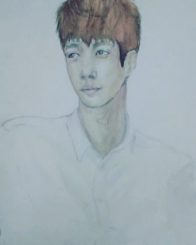 Lay Watercolor Painting by michikochan3000