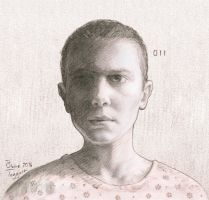 Eleven - Stranger Things by staino