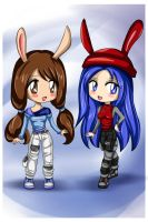 Melle and Celeste chibis by Bastet-sama