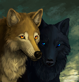Hige and Blue by sullent