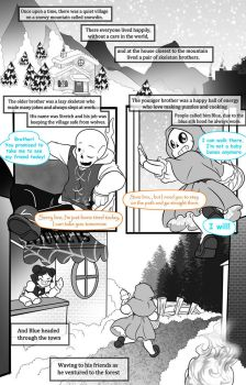 little blue riding hood page 1 by Melle-d
