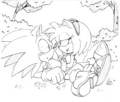 sonic x amy coloring pages - photo#31