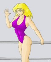 Swimsuit girl colored by tj-caris