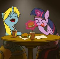 Hayburgers with Twilight by HarmonicViper