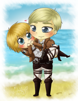 Erwin x Armin - We are like beach and ocean by Isi-Daddy