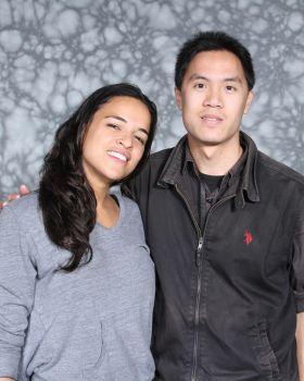 Me and Michelle Rodriguez by MidnightWeskerTRW