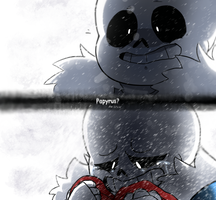 [Undertale] ... Papyrus? (*genocide spoilers) by Zimandchowder4evr