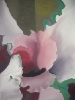 [Painting I] Georgia O'Keeffe Style Cabbage by Voleno