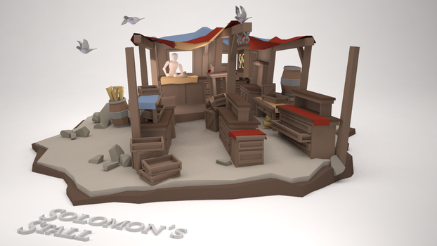 Low Poly Diorama - Solomon's Stall (WIP) by MacLellan