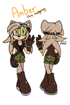 Amber the hedgehog ref by definetly-not-an-emo