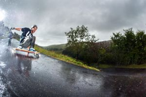 Longboarding in Wales by Kimbell