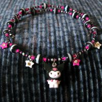 Kuromi Beaded Necklace by wickedland