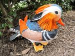 Paper Mache Mandarin Duck Sculpture by MeadowDelights