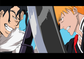 Bleach: Ichigo vs Ginjo by Havoc3001