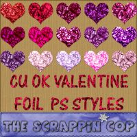 Valentine Foil Layer Styles by debh945