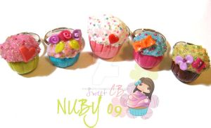 Cupcake Rings by colourful-blossom