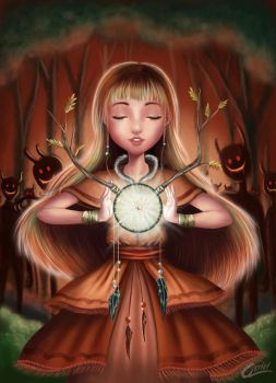 The Chaman and the dreamcatcher by Akriel