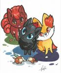 Fox Pokemanzes by lizspit