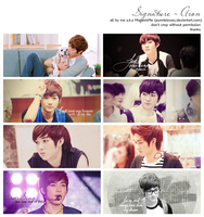Aron sign pack by PunnieLoveU