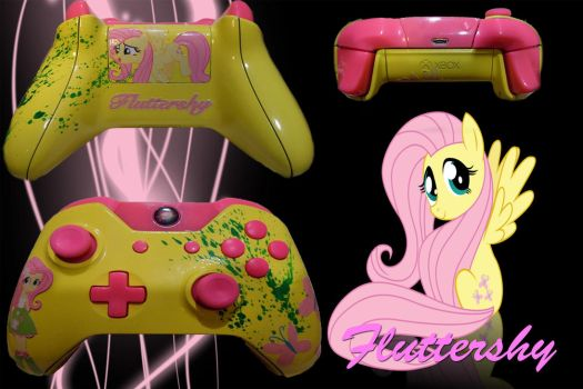 Custom Fluttershy XBONE Controller by ChilledFrost
