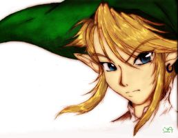 Link portrait - colored by LoveSnape