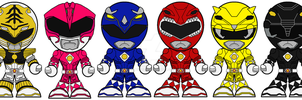 Chibi Mighty Morphing Power Rangers Movie Edition by Zeltrax987