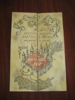 My homemade Marauder's map replica by SandrinoP
