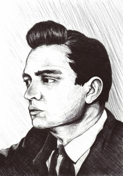 Young Johnny Cash by GurenNoHime