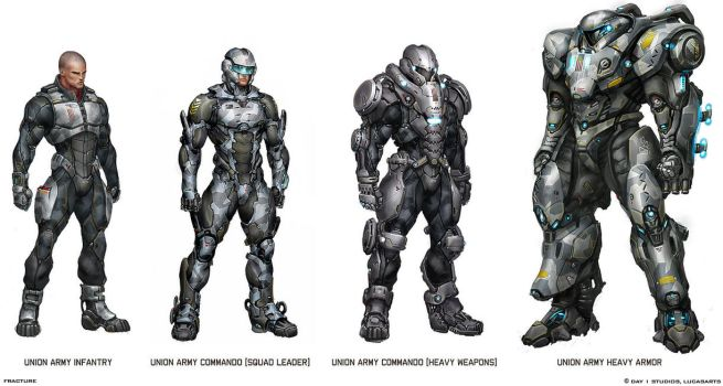 Some Interesting Battle Suits by Scarlighter