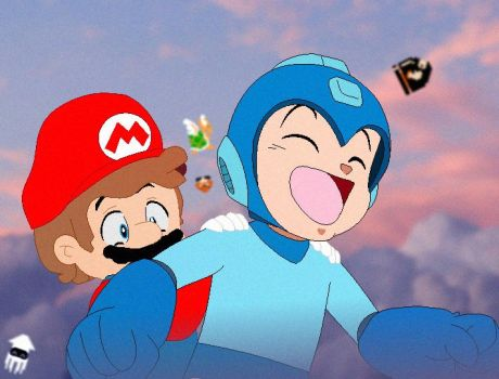 Megaman And Mario by WAirWolfFNACr