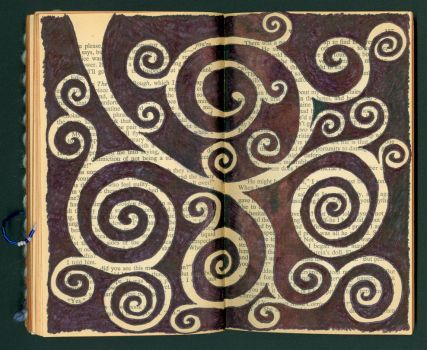 Altered Book Doodle by Llyzabeth