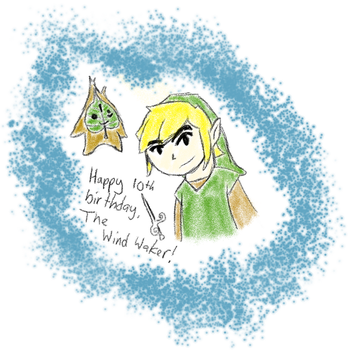 Happy 10th Anniversary, The Wind Waker! by JabuJabule