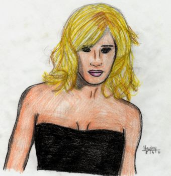 WWE Michelle McCool Drawing by circle-of-life