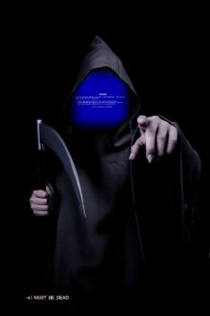 Blue Screen Of Death by IMustBeDead