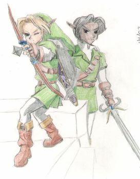 Link and Kage by RurouniGemini83