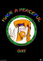 Have A Peaceful Day (poster) by Jacob-Digital-Art