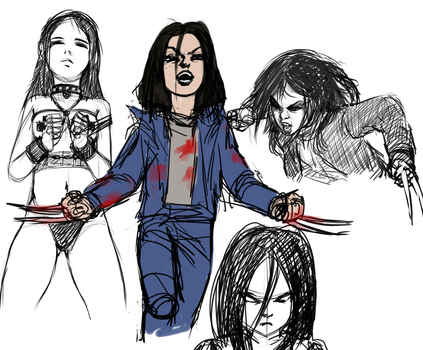 sketch random and x-23 by MitternachtAngel